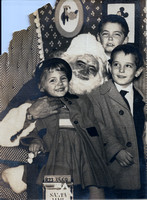 1953 Christmas Photo Janie-Louis-Alphonse-original